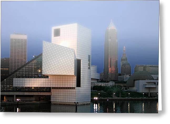The Rock And Roll Hall Of Fame Greeting Card by Richard Gregurich