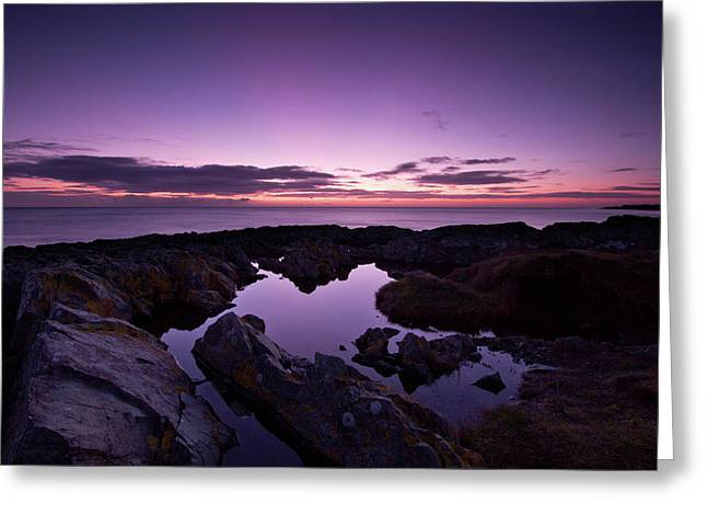 The Rock Pool At Dawn Greeting Card