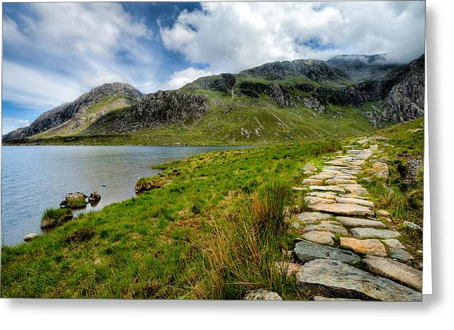 The Rocky Path Greeting Card by Adrian Evans