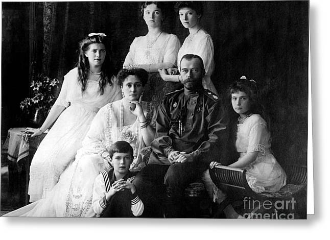 The Romanovs, Last Royal Family Greeting Card by Photo Researchers