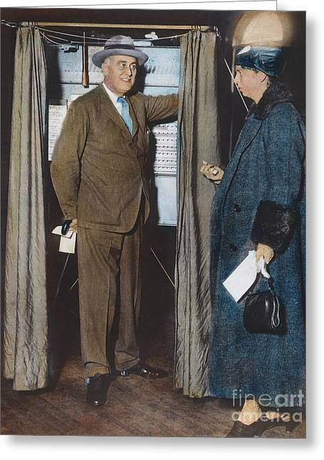 The Roosevelts Voting Greeting Card by Granger