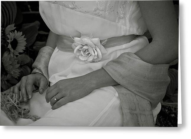 The Rose And Her Ring Greeting Card by Robin Robinson