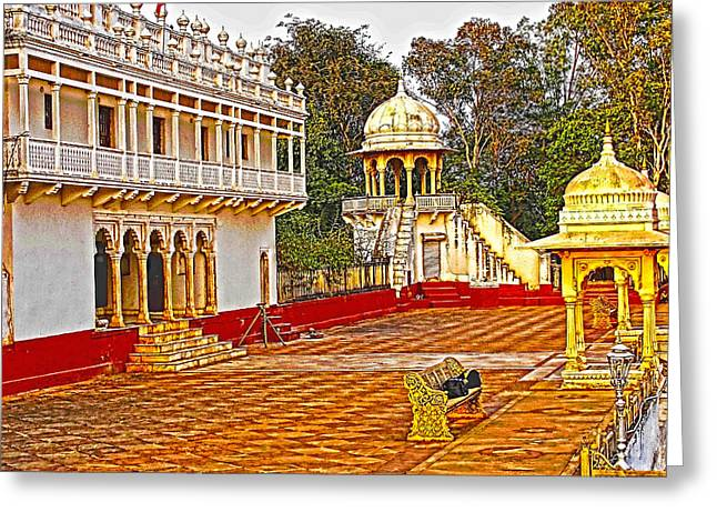 The Royal Corridor Greeting Card by Makarand Purohit