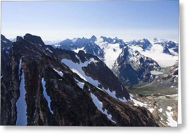 The Rugged Cliffs Of The High Mountains Greeting Card