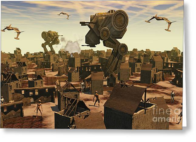 The Ruins Of An Earth Type Environment Greeting Card by Mark Stevenson