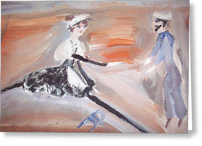 The Sailor And The French Maid Greeting Card by Judith Desrosiers