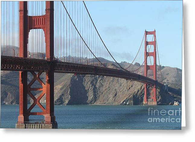 The San Francisco Golden Gate Bridge - 7d19184 Greeting Card by Wingsdomain Art and Photography
