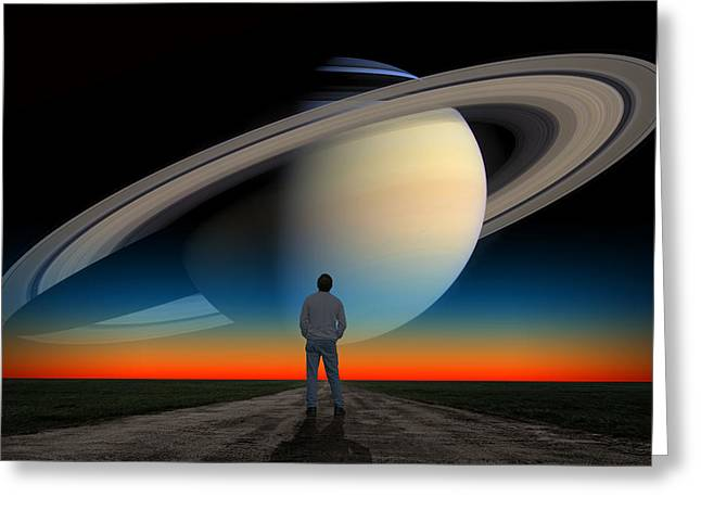 The Saturn Gaze Greeting Card