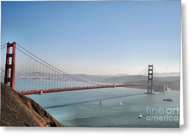 The Sausalito Side Of The Bay Greeting Card