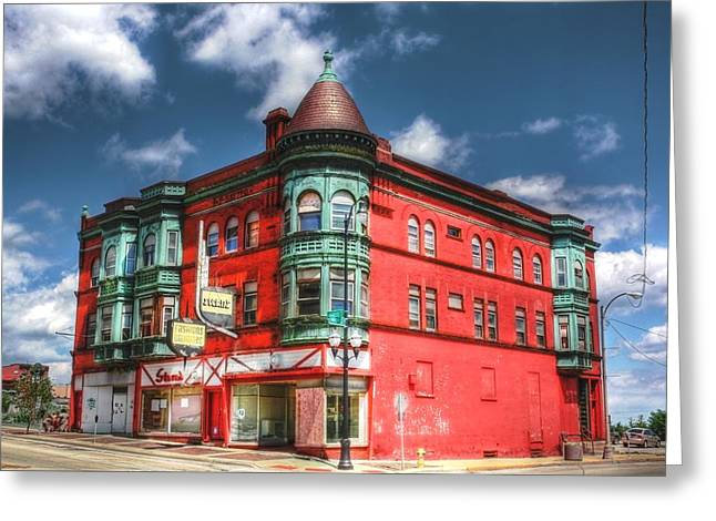 The Sauter Building Greeting Card by Dan Stone