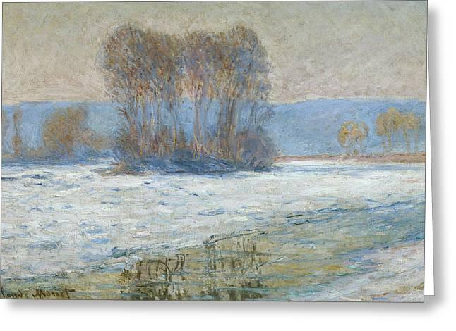 The Seine At Bennecourt Greeting Card