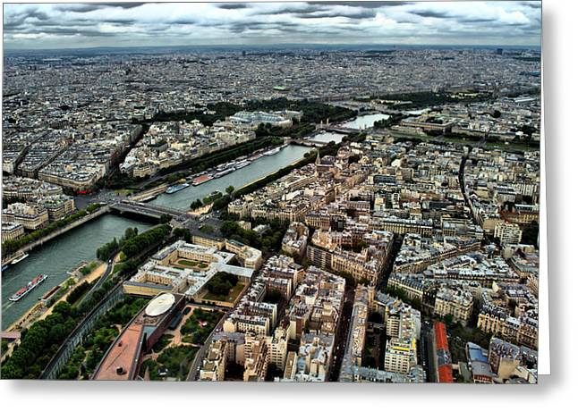 Greeting Card featuring the photograph The Seine River 2 by Edward Myers