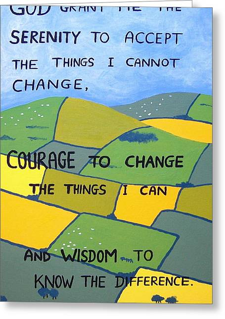 The Serenity Prayer Greeting Card by Eamon Reilly