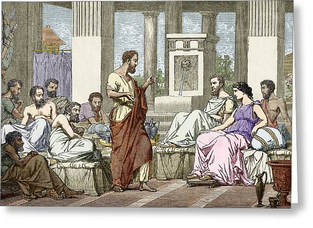 The Seven Sages Of Greece, 7th Century Bc Greeting Card