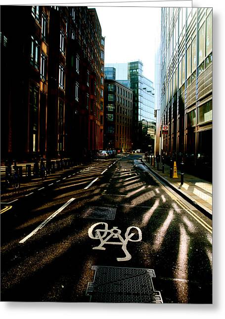 The Shady Streets Of The City Greeting Card by Jez C Self