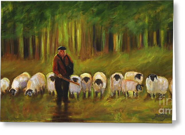 The Sheep Herder Greeting Card