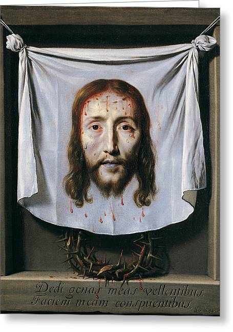 The Shroud Of St Veronica Greeting Card