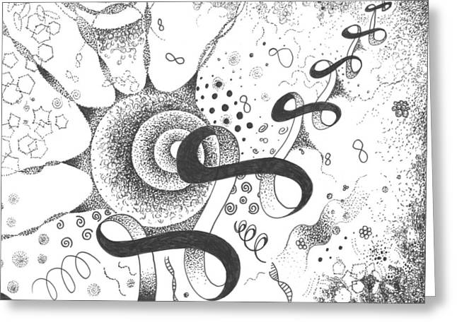 The Silent Dance Of The Particles Greeting Card by Helena Tiainen