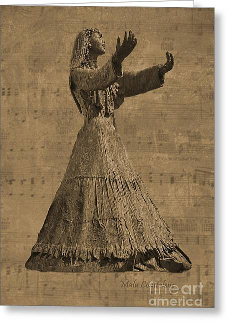 The Singer Greeting Card by Malu Couttolenc