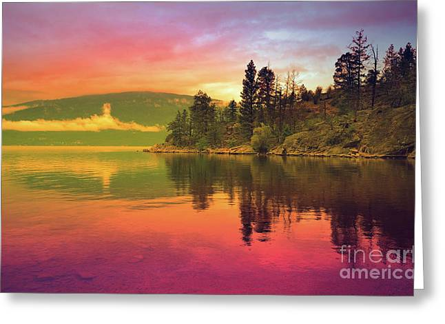 The Sky Paints The Morning Greeting Card by Tara Turner