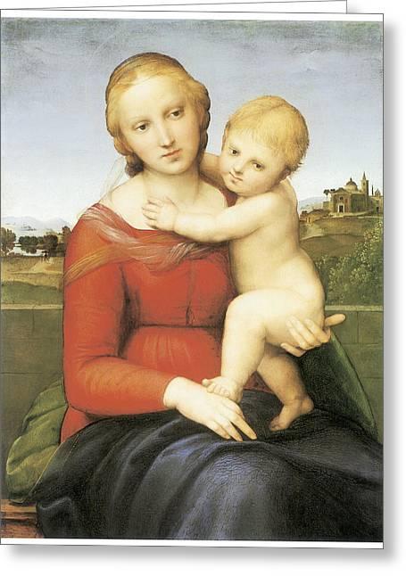 The Small Couper Madonna Greeting Card by Raffaello Sanzio
