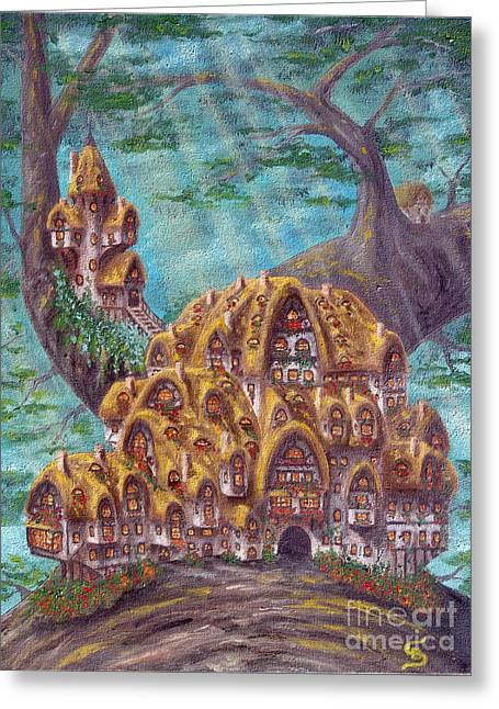 The Small Straddle House From Arboregal Greeting Card