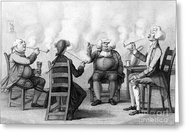 The Smoking Club Greeting Card by Granger