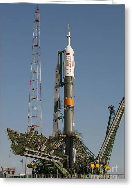 The Soyuz Rocket Shortly After Arrival Greeting Card by Stocktrek Images