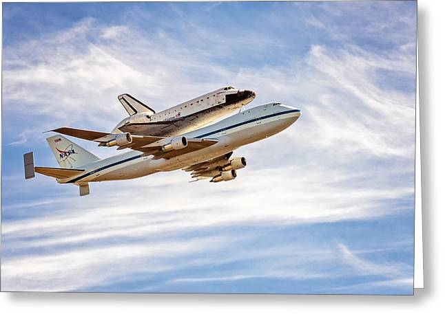 The Space Shuttle Endeavour Greeting Card by David Yu