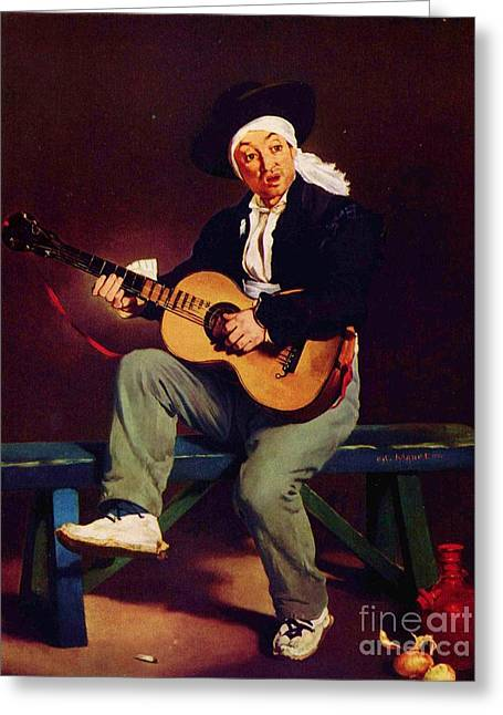 The Spanish Singer Greeting Card by Pg Reproductions