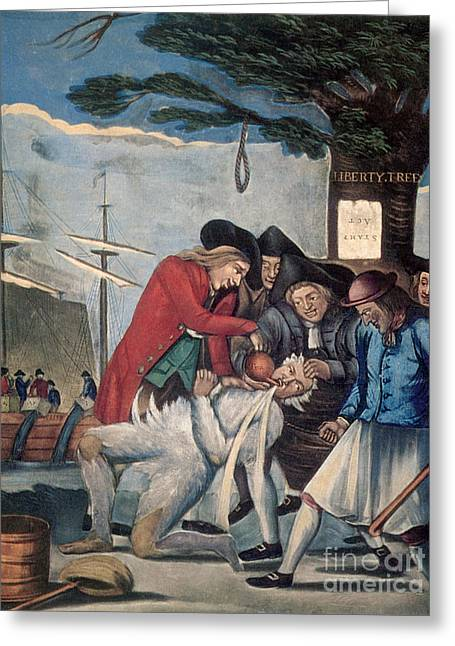 The Stamp Act Protests, 1774 Greeting Card by Photo Researchers