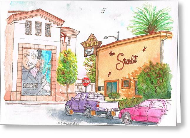 The Starlet Motel And Warner Bros Offices In Burbank - California Greeting Card