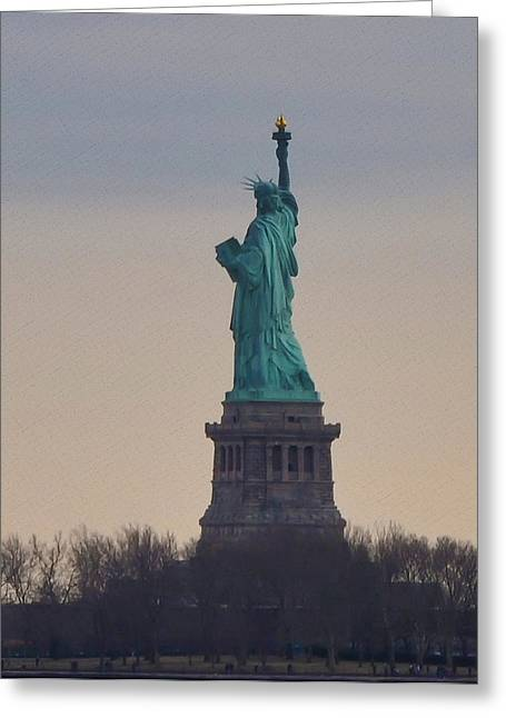 The Statue Of Liberty Greeting Card by Bill Cannon