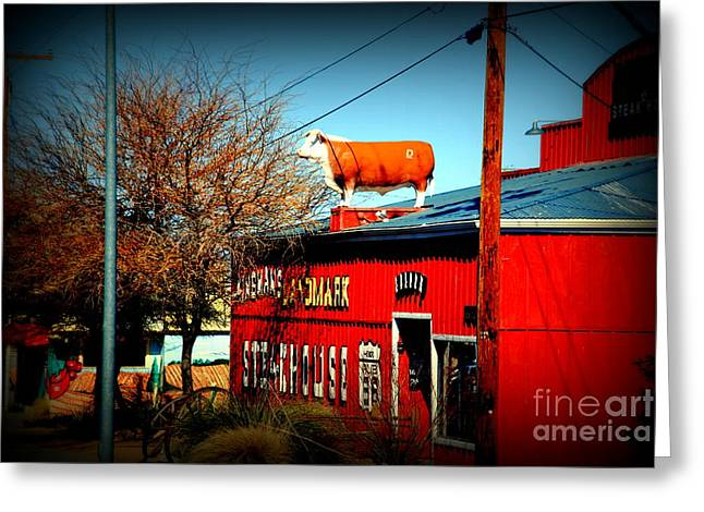 The Steakhouse On Route 66 Greeting Card by Susanne Van Hulst