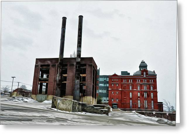 The Stegmaier Brewery - Wilkes Barre Greeting Card by Bill Cannon
