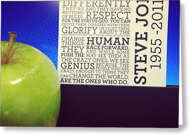 The Steve Jobs Apple. It Was Given By Greeting Card