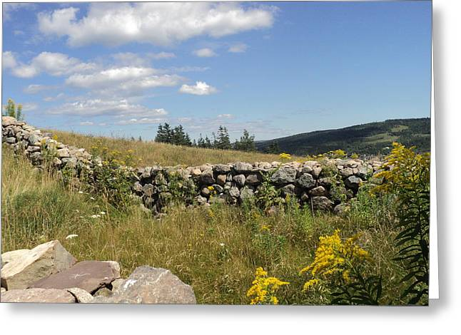 The Stone Fence Greeting Card
