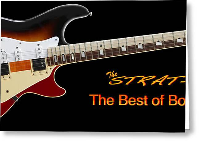 The Strat Les Guitar Greeting Card by Mike McGlothlen