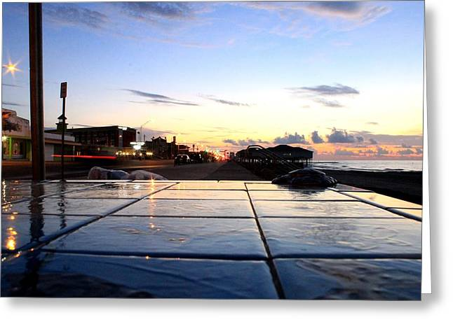 The Streets Of Galveston Greeting Card by Mark Longtin