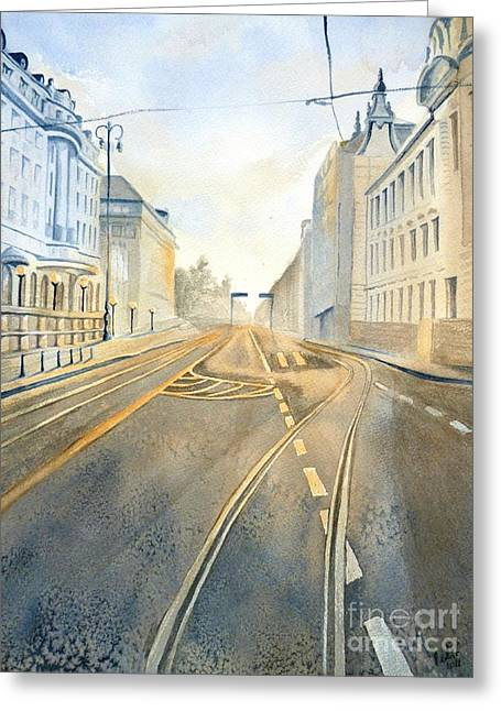 The Streets Of Zagreb  Greeting Card by Eleonora Perlic