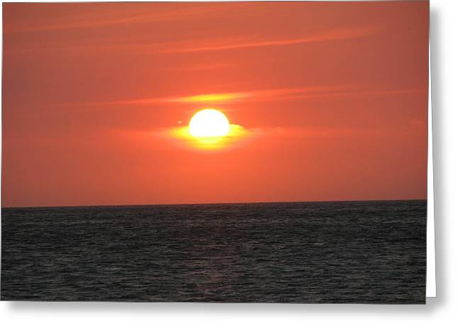 The Sun In A Bowl Greeting Card by Gal Moran
