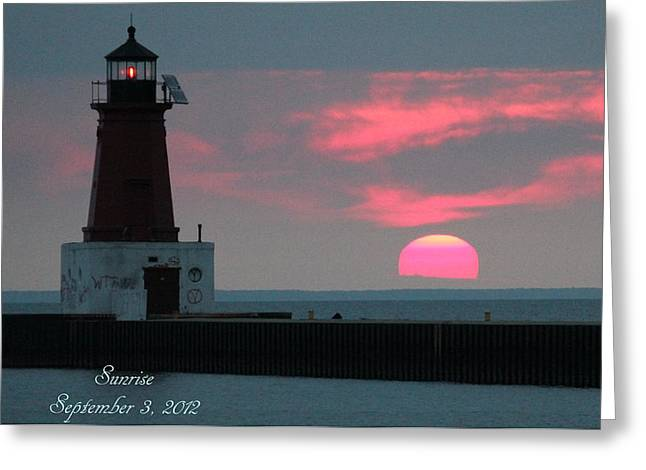 The Sun Is Rising  Greeting Card by Sheila Werth