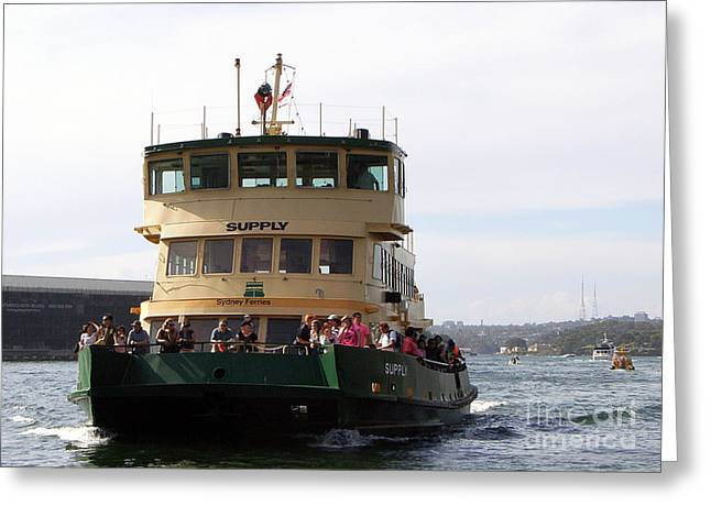 The Sydney Harbour Ferry Supply Greeting Card by Joanne Kocwin
