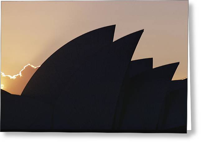 The Sydney Opera House Is Silhouetted Greeting Card