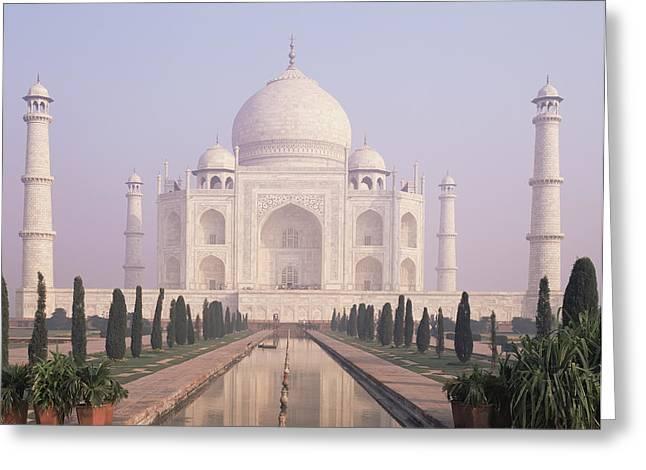 The Taj Mahal A White Marble Mausoleum Greeting Card