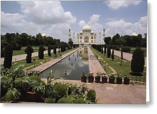 The Taj Mahal In Agra, India Greeting Card by James P. Blair