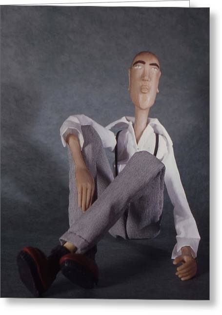 The Tall Guy Greeting Card by Catherine Carr