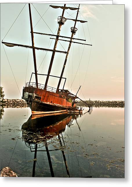 Greeting Card featuring the photograph The Tall Shipwreck by Nick Mares