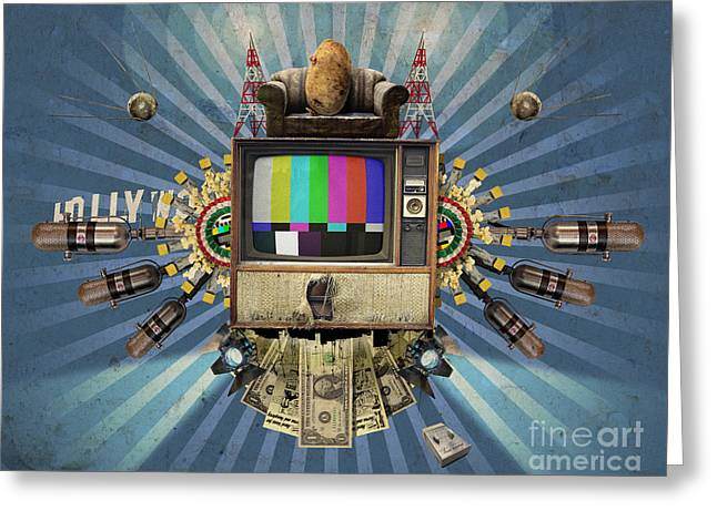 The Television Will Not Be Revolutionised Greeting Card by Rob Snow