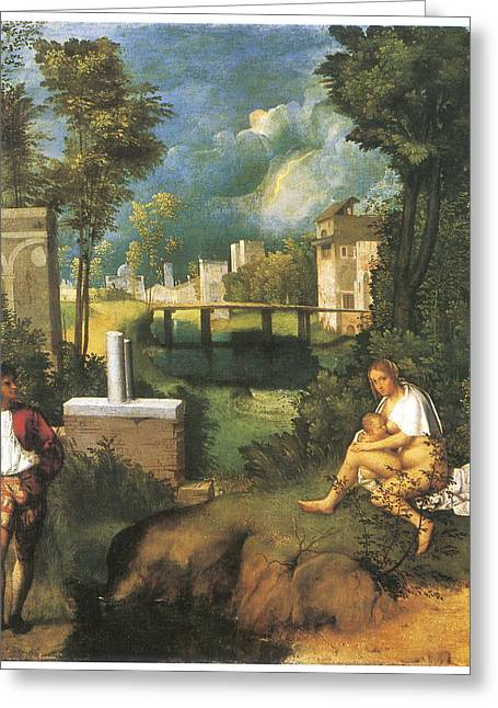 The Tempest Greeting Card by Giorgione